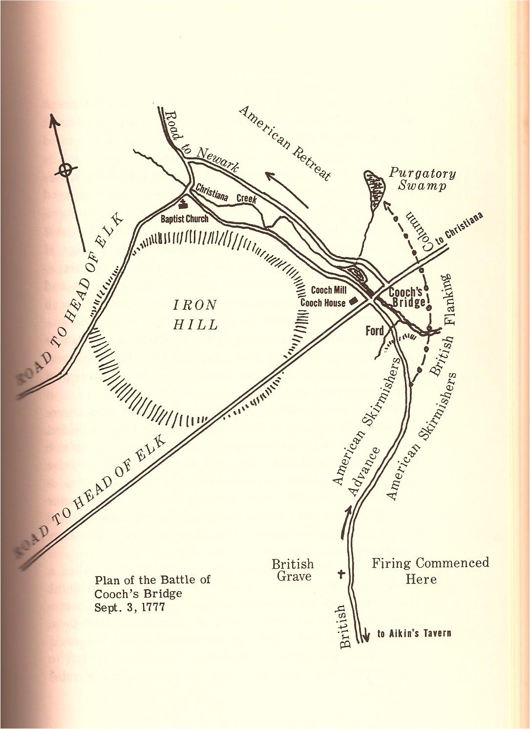 Cooch's Bridge Map