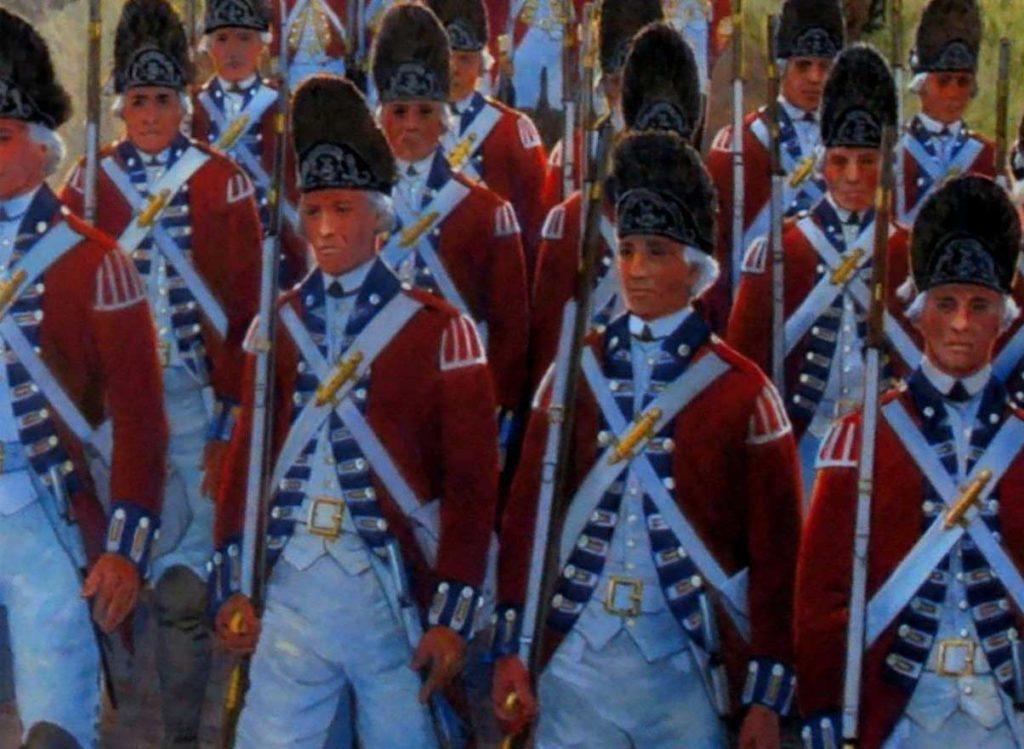 Marching British Soldiers - Revolutionary War