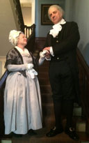 Carol Spacht and John Lopes as George and Martha Washington