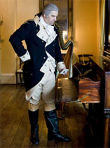 John Lopes as George Washington