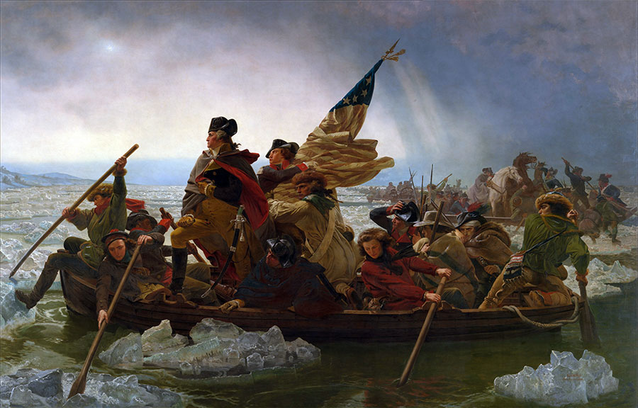 George Washington Crossing The Delaware Painting