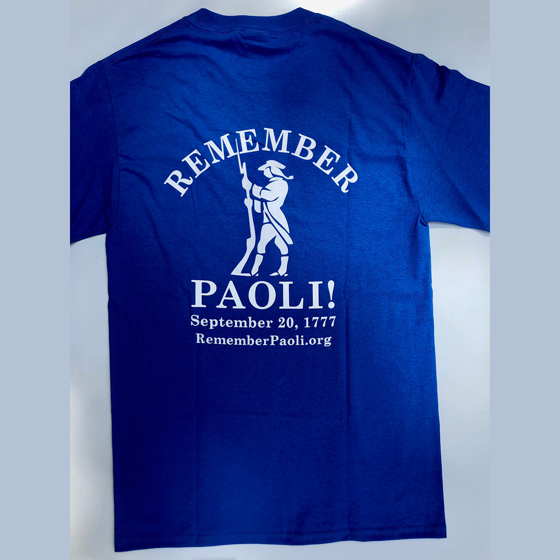 Remember Paoli! Shirt – Adult, Blue