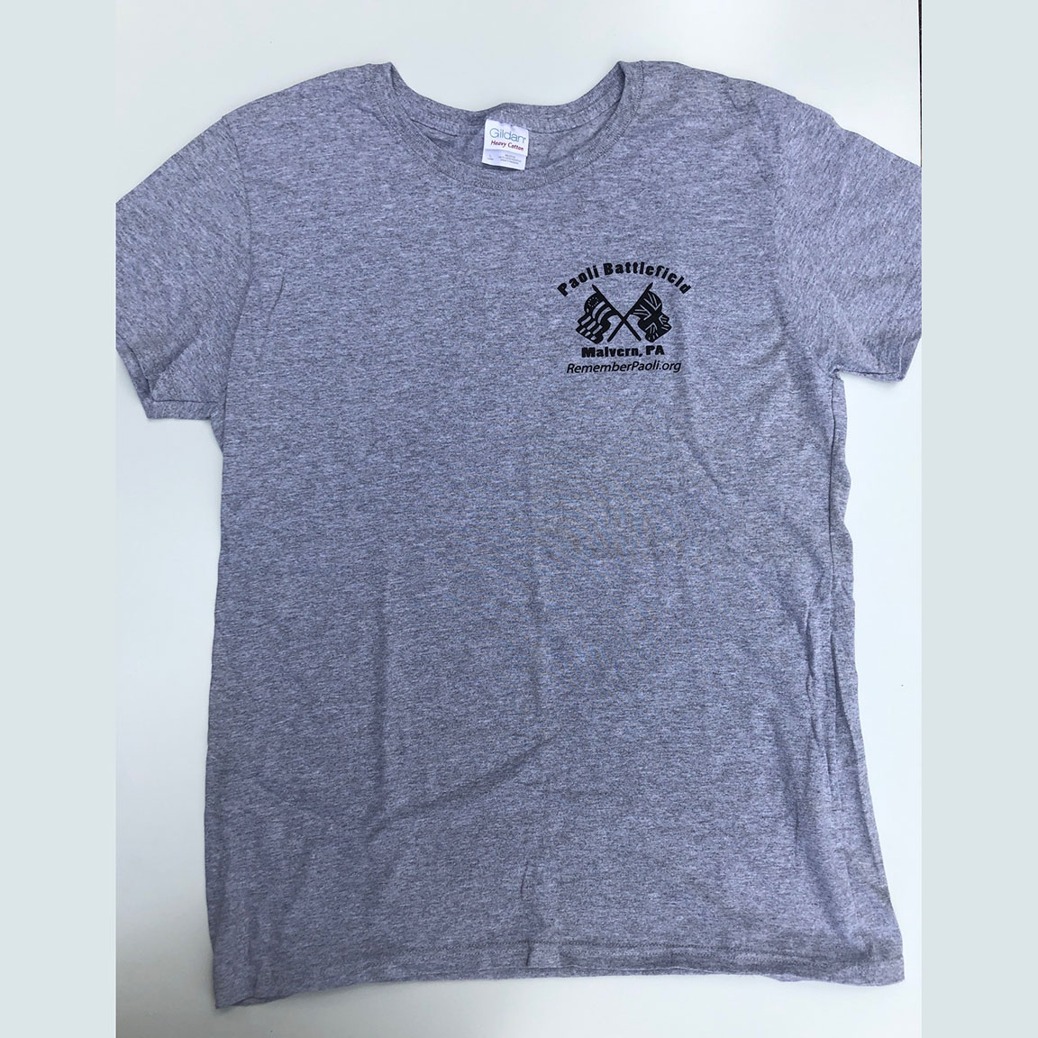 Paoli Battlefield Heritage Day 2015 - Gray Shirt, Front