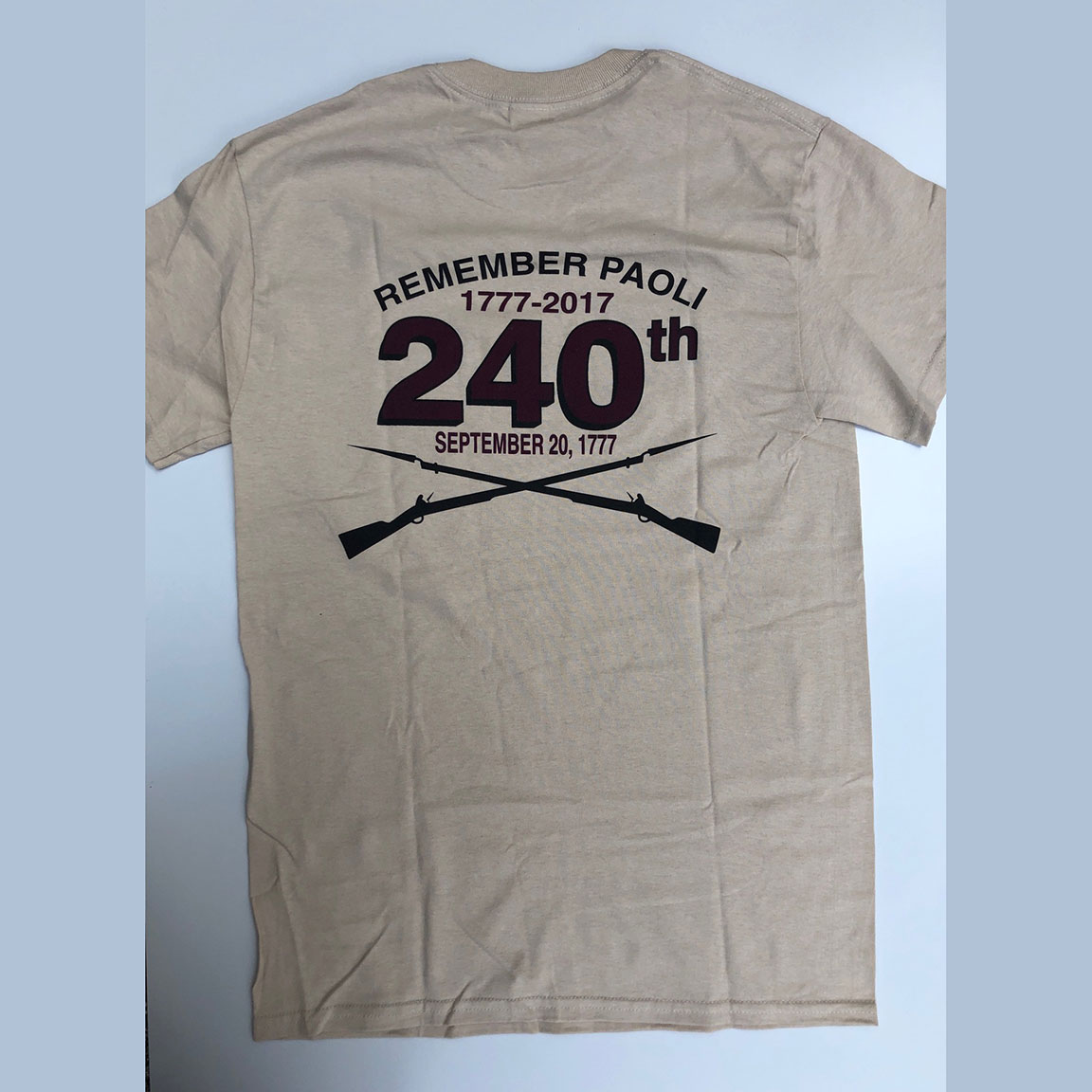 Remember Paoli 240th Anniversary Shirt – Adult, Sand