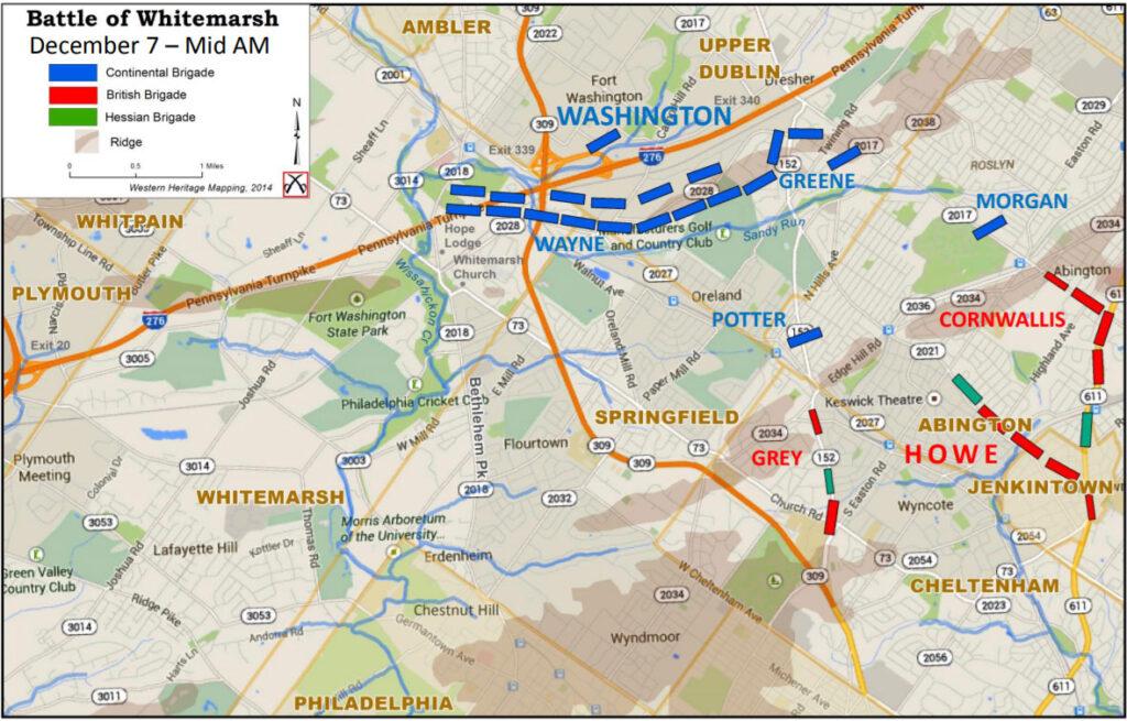 Battle of Whitemarsh map