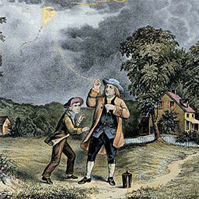 Ben Franklin kite key experiment